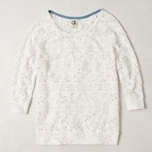 Anthropologie One September Marigola Pullover lace